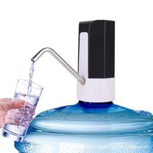Rechargeable Wireless Electric Bottled Drinking Water Pump - Black