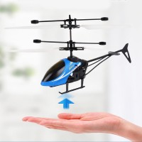 Rechargeable Kids Flying Led Light Mini Aircraft - Blue