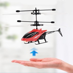 Rechargeable Kids Flying Led Light Mini Aircraft - Red