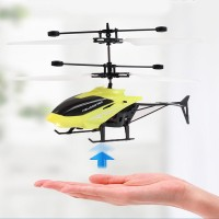 Rechargeable Kids Flying Led Light Mini Aircraft - Yellow