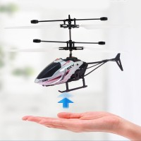 Rechargeable Kids Flying Led Light Mini Aircraft - Silver