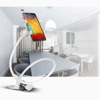 Lazy Bracket Mobile Phone Rotatable Mount Holder - White