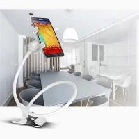 Lazy Bracket Mobile Phone Rotatable Mount Holder - White