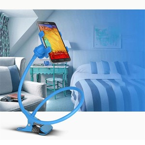 Lazy Bracket Mobile Phone Rotatable Mount Holder - Blue