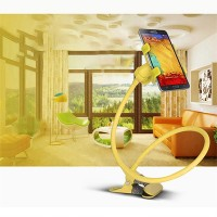 Lazy Bracket Mobile Phone Rotatable Mount Holder - Yellow