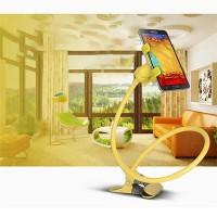Lazy Bracket Mobile Phone Rotatable Mount Holder - Yellow