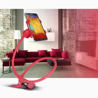 Lazy Bracket Mobile Phone Rotatable Mount Holder - Red