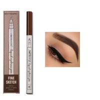 Four Headed Extremely Natural Long Lasting Waterproof Eyebrow Pencil 01 - Light Brown