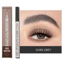 Four Headed Extremely Natural Long Lasting Waterproof Eyebrow Pencil 04 - Dark Gray