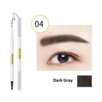 2 In 1 Natural Waterproof Long Lasting Eyebrow Liner 04 - Dark Gray