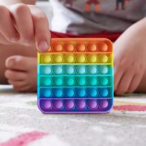Push Pop Bubble Sensory Fidget Silicone Stress Reliever Toy - Multi Color