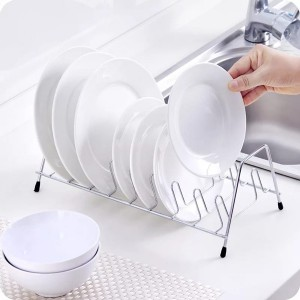 Stainless Steel High Quality Dish Drainer Rack - Silver