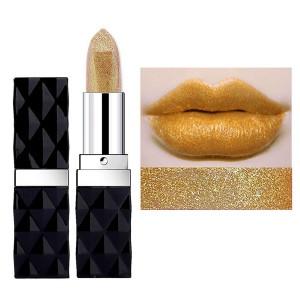 Ladies Glitter Long Lasting Classic Lipstick 05 - Golden