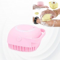 Creative Silicone Scalp Shower Super Soft Massage Bath Brush - Pink