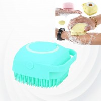 Creative Silicone Scalp Shower Super Soft Massage Bath Brush - Blue