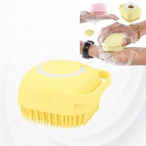 Creative Silicone Scalp Shower Super Soft Massage Bath Brush - Yellow