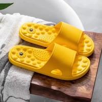 Quick Drying Bathroom Massage Slippers - Yellow