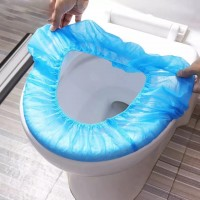 Ten Pieces Disposable Toilet Hygiene Seat Cover Set- Blue