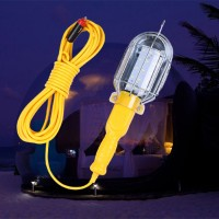 Portable Hand Held Car Plug With Hook Camping Light  - Yellow