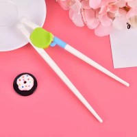 A Pair Of Kids Auxiliary Chopsticks - Green