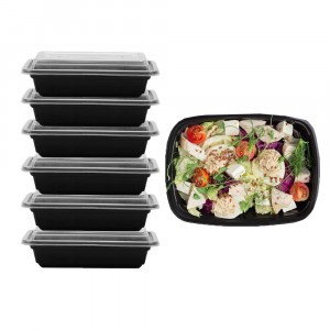 1000 ML Hotpack Disposable Rectangular Microwaveable Container 6 Pcs Set