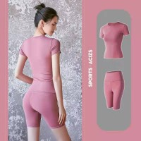 Running Gym Sports Yoga Suit - Pink
