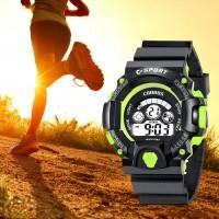 Unisex Waterproof Luminous Sports Electronic Watch - Black Green