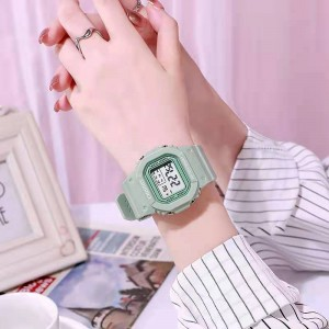 Girls Casual Candy Color Electronic Watch - Light Green