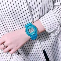 Girls Casual Candy Color Electronic Watch - Blue