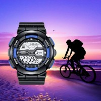 Boys Sports Waterproof Electronic Watch - Black Blue