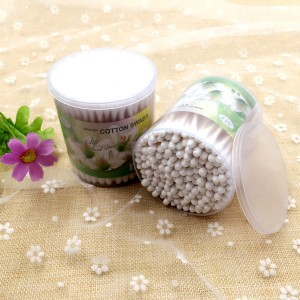 1 Box 200 Pcs Quality Cotton Swabs Buds - White