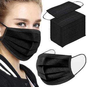 50 Pcs High Quality 3 Layer Breathable Face Mask - Black