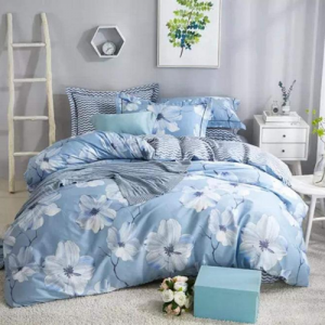 Flower Design Queen / Double Size Set of 6 Pieces Bed Sheet