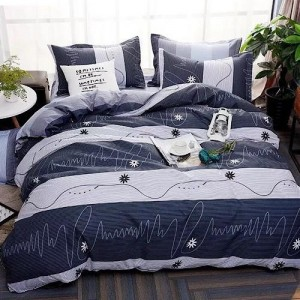 Stripe Design Queen / Double Size Set of 6 Pieces Bed Sheet