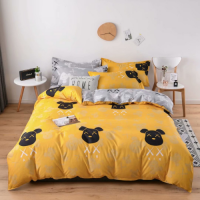 Bear Design Single Size Set of 4 Pieces Bed Sheet