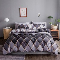 Geometric Design Queen / Double Size Set of 6 Pieces Bed Sheet