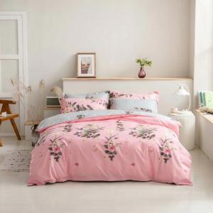 Floral Design King Size Set of 6 Pieces Bed Sheet