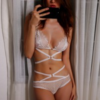 Hollow Tassel See Through Sexy Wear Lingerie Sets - White