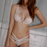 Caged See Through Sexy Wear Seductive Lingerie Set - White