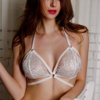 Sexy Wear See Through Cage Bra - White