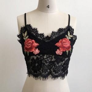 Tassel Thread Art Strapped Summer Top - Black