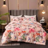 Butterfly Design Comforter Set of 4 Pieces
