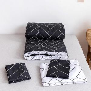 Black Geometric Design Comforter Set of 4 Pieces