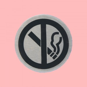 Stainless Steel Toilet Sign Table No Smoking One PCs