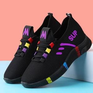 Rubber Sole Soft Hollow Sports Wear Sneakers - Purple
