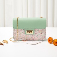Classic Texture Sequins Leather Delicate Creative Women Shoulder Bag - Green