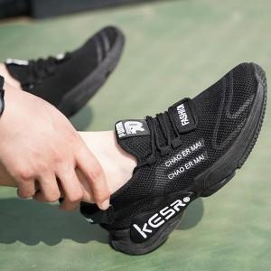 Canvas Printed Casual Wear Unisex Sneakers - Black