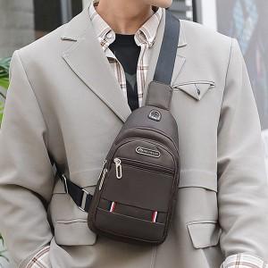 Zipper Closure Adjustable Traveller Unisex Mini Backpacks - Brown