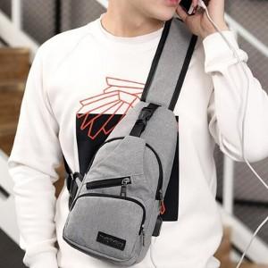 Adjustable Zipper Closure Traveller Unisex Mini Backpacks - Gray