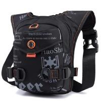Printed Zipper Closure Nylon Buckle Closure Traveller Mini Backpack - Black